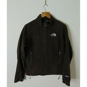 North Face Medium Windwall Fleece Jacket Brown Zip